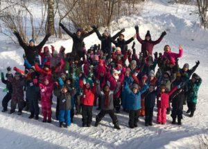 Les CP font du ski