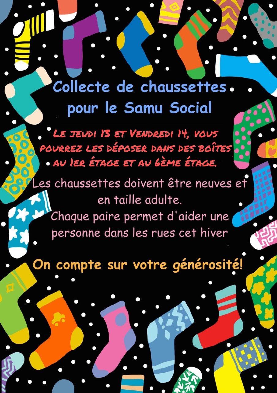 Des chaussettes pour le Samu Social