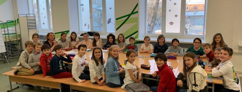 Les délégués des élèves du primaire en formation