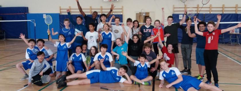 Badminton: Une rencontre pour le plaisir
