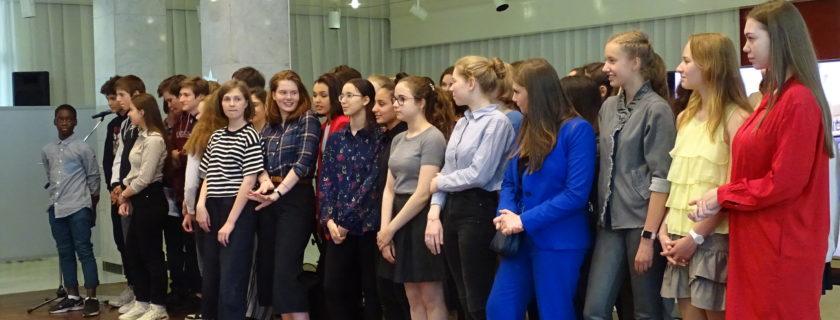 L'ambassade de France reçoit les élèves